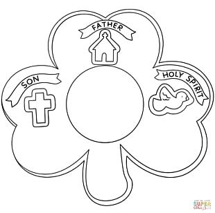 Bible Trinity Coloring Book Shamrock Christianity PNG