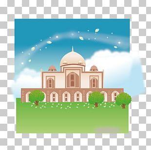 Taj Mahal Cartoon Illustration PNG