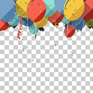 Balloon Birthday Greeting Card Stock Photography PNG