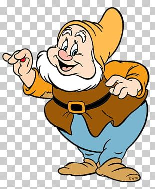 Seven Dwarfs Bashful Dopey Snow White Sneezy PNG