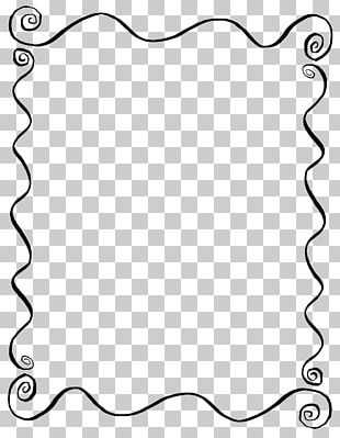 Borders And Frames Line Art Drawing PNG