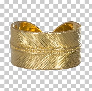 Gold Rhus Typhina Ring Feather Silver PNG