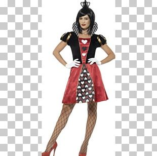 Queen Of Hearts Red Queen Costume Party Dress PNG