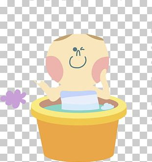 Bathing Cuteness Infant Illustration PNG