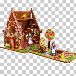 Hansel And Gretel Gingerbread House Toy Dollhouse Game PNG