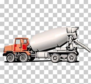 Concrete Mixer Ready-mix Concrete Truck Heavy Equipment PNG