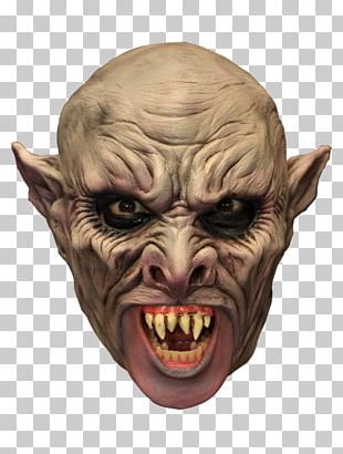 Latex Mask Vampire Costume Party PNG