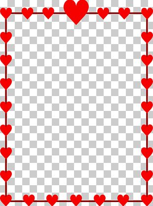 Right Border Of Heart Valentines Day Frame PNG