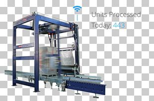 Stretch Wrap Plastic Packaging And Labeling Machine Coating PNG