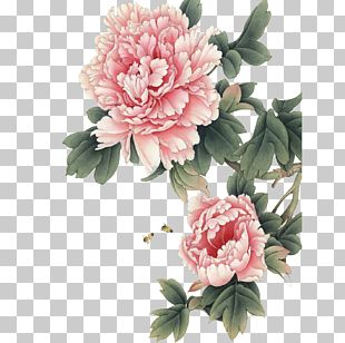 Chinese Painting Peony Gongbi Art PNG