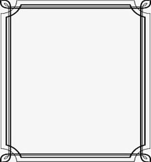 Black And White Border Straight PNG