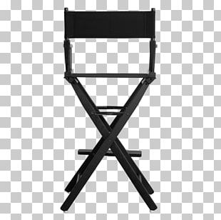 Director's Chair Table Garden Furniture Folding Chair PNG