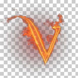 Letter V Flame English Alphabet PNG