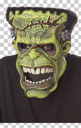 Frankenstein Mask Halloween Costume Costume Party PNG