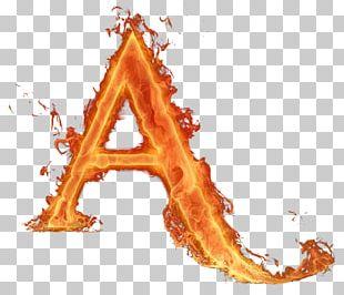 Letter Fire Alphabet Light PNG