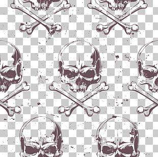 Euclidean Piracy Skull Illustration PNG