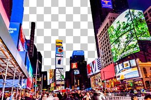 Times Square Theater District Street Road Night Photography PNG
