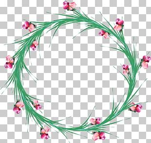 Angels Floral Design Flower Wreath Film Frame PNG