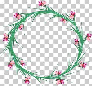 Angels Floral Design Flower Wreath Film Frame PNG