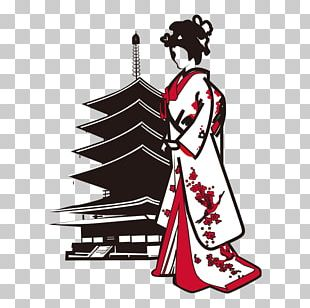 Japanese Architecture Cartoon Illustration PNG