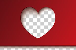 Red Heart-shaped Valentine's Day PNG