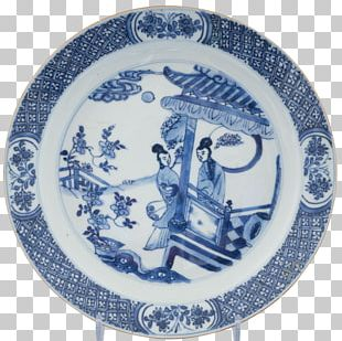 Plate Blue And White Pottery Ceramic Cobalt Blue Porcelain PNG