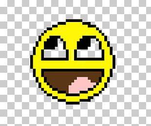 Smiley Pixel Art Cross-stitch Emoticon PNG