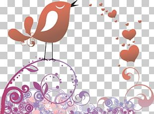 Lovebird Valentine's Day Heart PNG