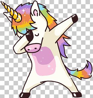 T-shirt Dab Dab Dance Magic Unicorn PNG