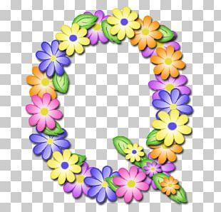 Letter Alphabet G Flower PNG