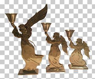 Brass Candlestick Bronze Sculpture Chairish PNG