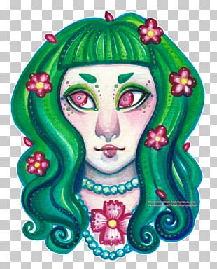 Green Visual Arts Flower PNG