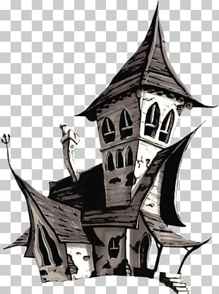 Halloween Haunted House PNG