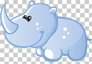 Hippopotamus Rhinoceros Wall Decal Sticker PNG
