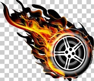 Flame Fire Wheel PNG