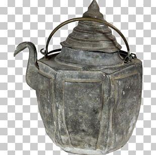 Teapot Kettle Pewter Metal Antique PNG