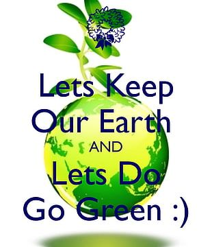 Earth Day Poster Green PNG