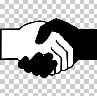 Computer Icons Handshake Black And White Scalable Graphics PNG