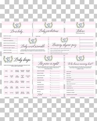 Wedding Invitation Baby Shower Game Paper Diaper PNG