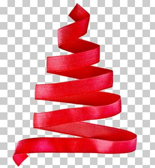 Ribbon Christmas Tree PNG