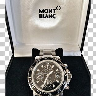 Watch Montblanc Chronograph Strap Clock PNG