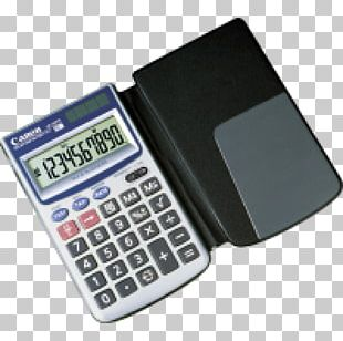 Calculator With Built-in Printer Canon P-29 D IV White Display Canon LS-63TG Calculation PNG