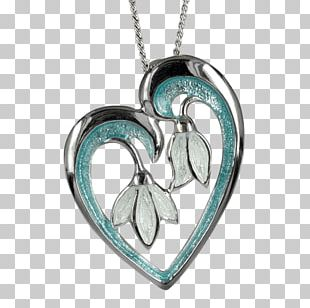 Locket Turquoise Body Jewellery Necklace PNG