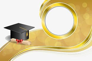 Graduation Invitation Background PNG
