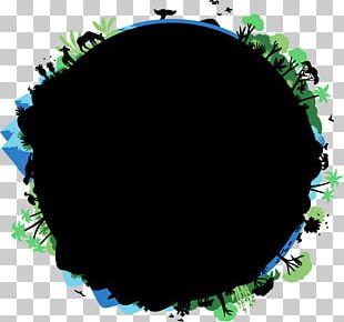 Green Circle Leaf Font PNG