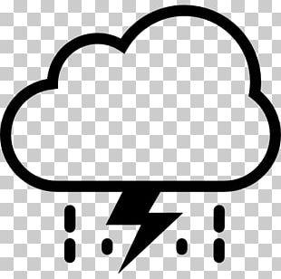 Storm Rain Cloud Weather Lightning PNG