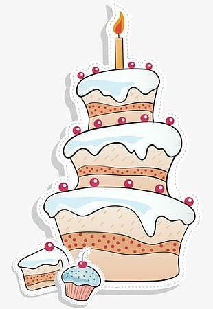 Cartoon Birthday Cake Stock PNG