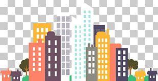 Flat Design City Drawing PNG