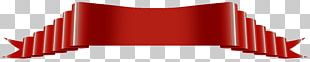 Red Art Deco Banner PNG