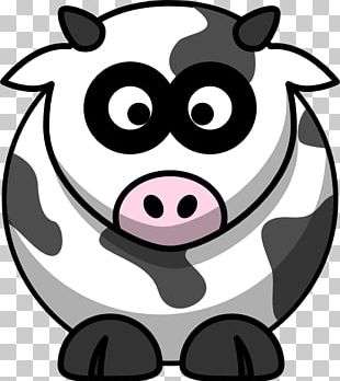 White Park Cattle Drawing Cartoon Dairy Cattle PNG